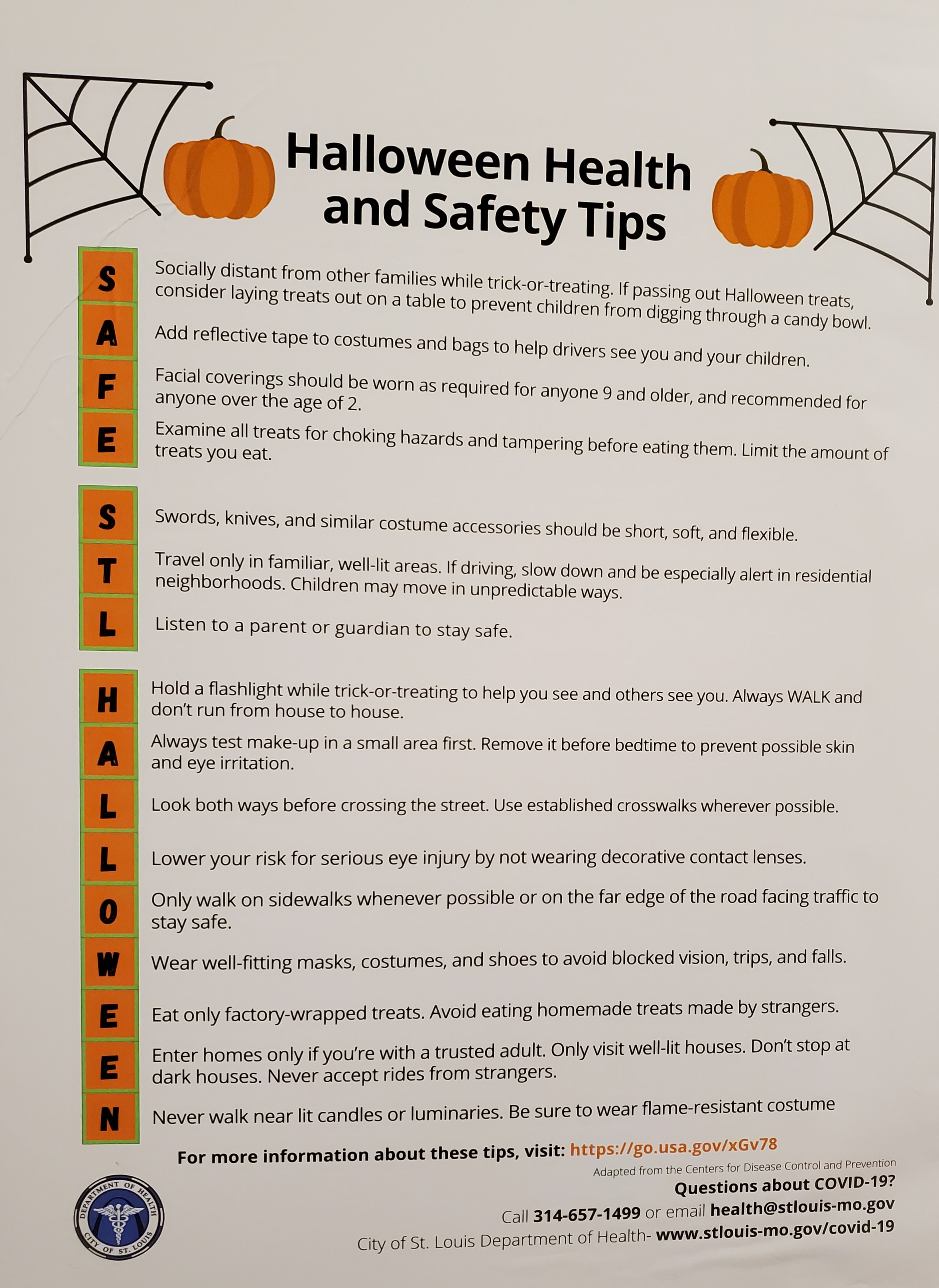 St Louis Halloween 2020 2020 Halloween Health and Safety Tips