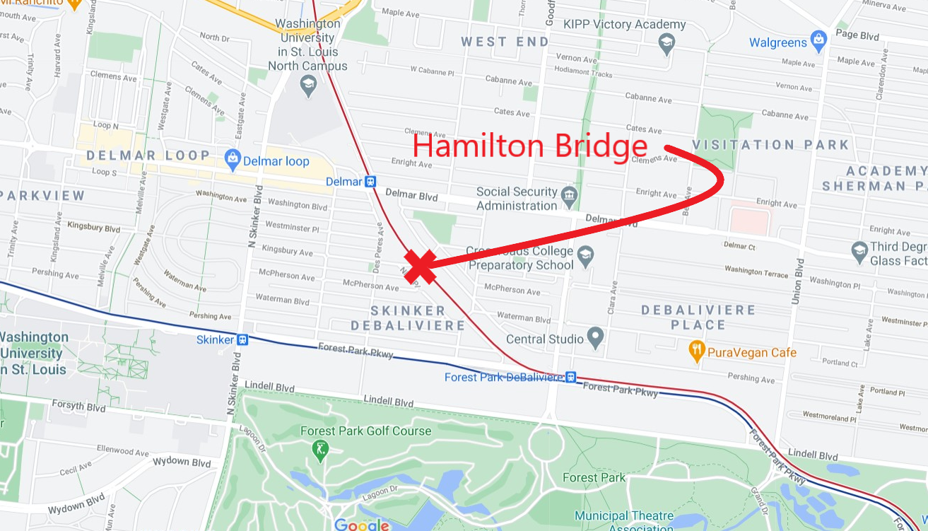 Hamilton Bridge location