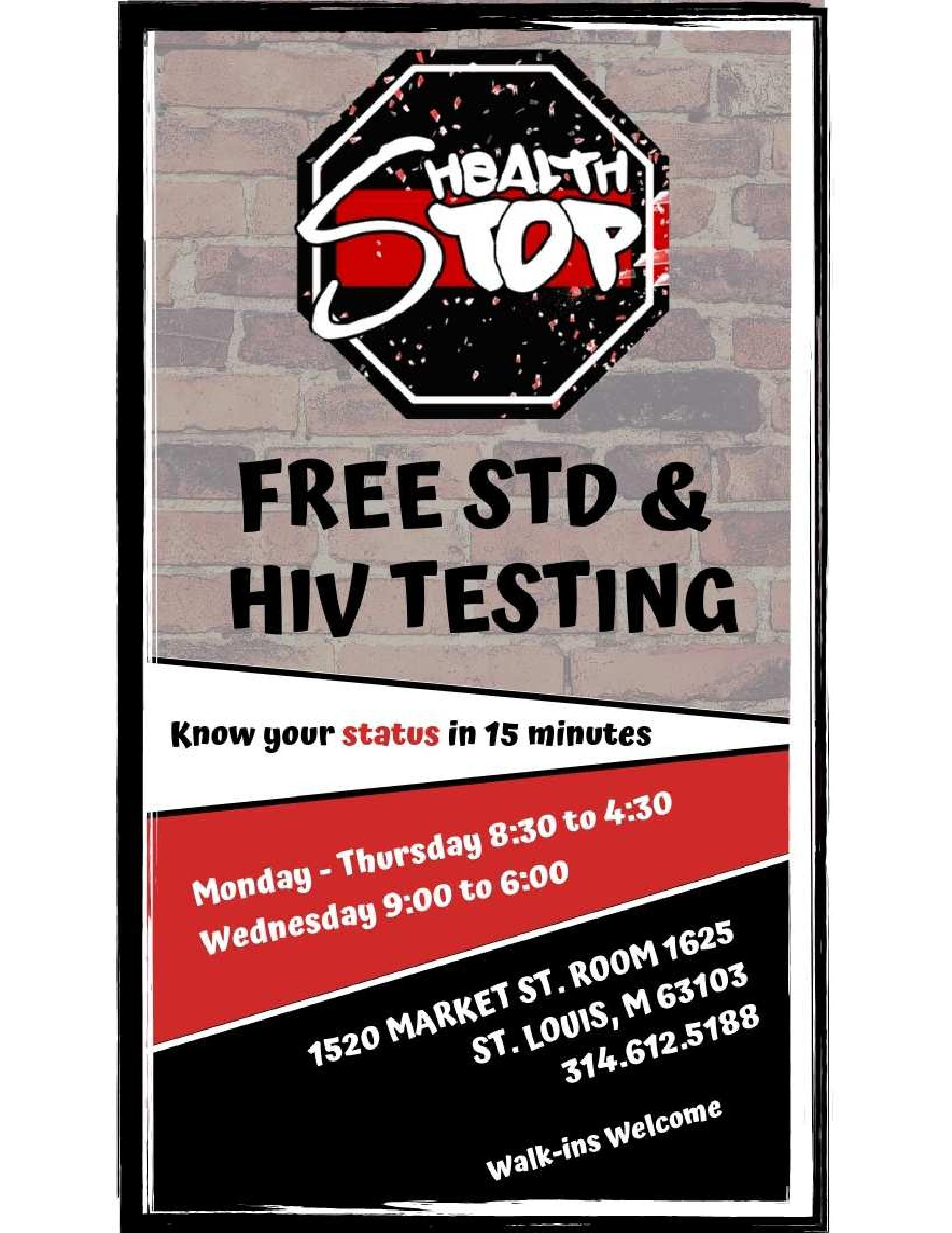 sexual health testing site flyer