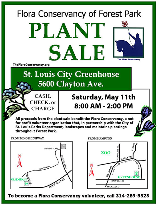 Plant Sale, City Greenhouse, May 11, 8am - 2pm
