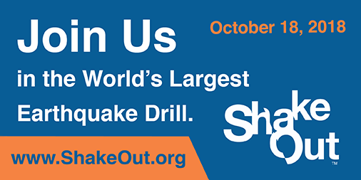 Information about the 2018 Great Shakeout Earthquake Drills