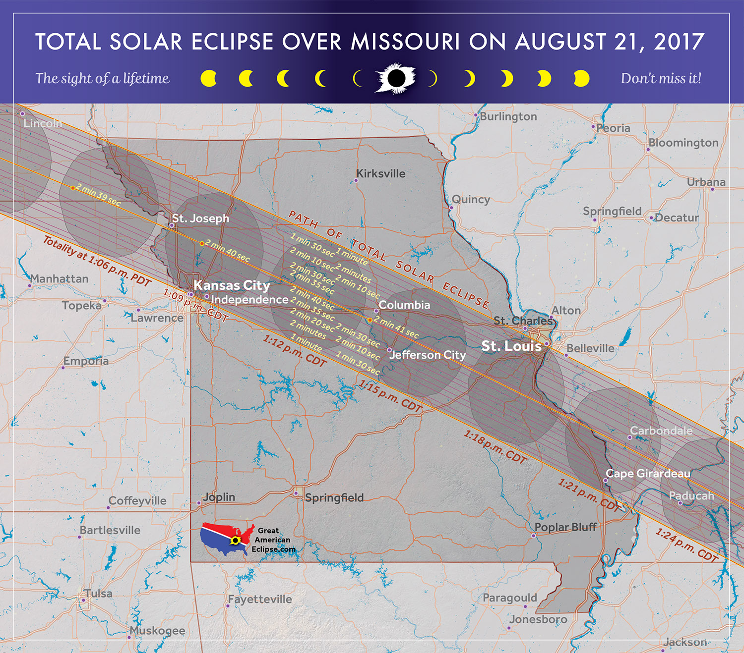 August 21 2017 Solar Eclipse MO Path
