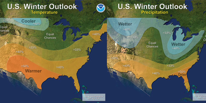 NWS Winter Outlook maps 2017-18