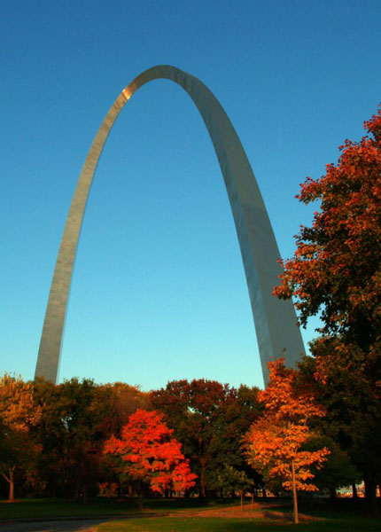 Arch and trees fall photo