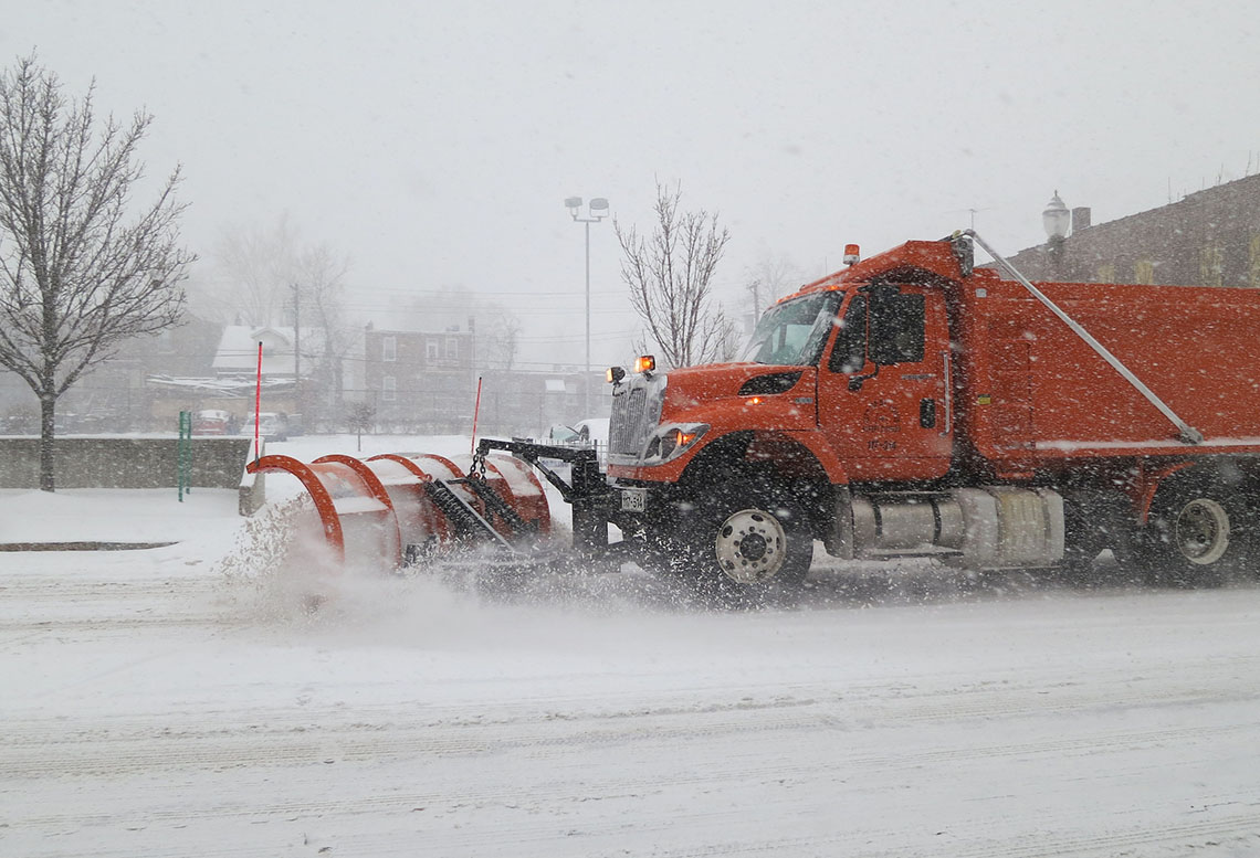 Snow Plow on Manchester