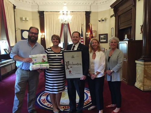 Mayor Francis G. Slay presents proclamation for Diaper Need Awareness Week