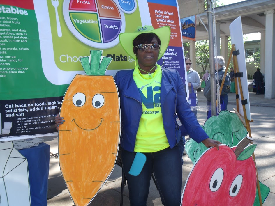 Earth Day Celebration 2015 Health Department employee Lorise Thornton