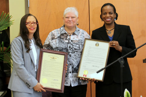 Dr. Lynne Cooper is the recipient of the Distinguished Fair Housing Service Award