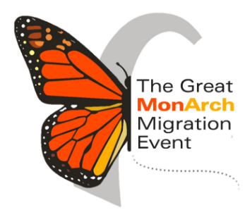 Picture of Monarch butterfly superimposed on the Gateway Arch