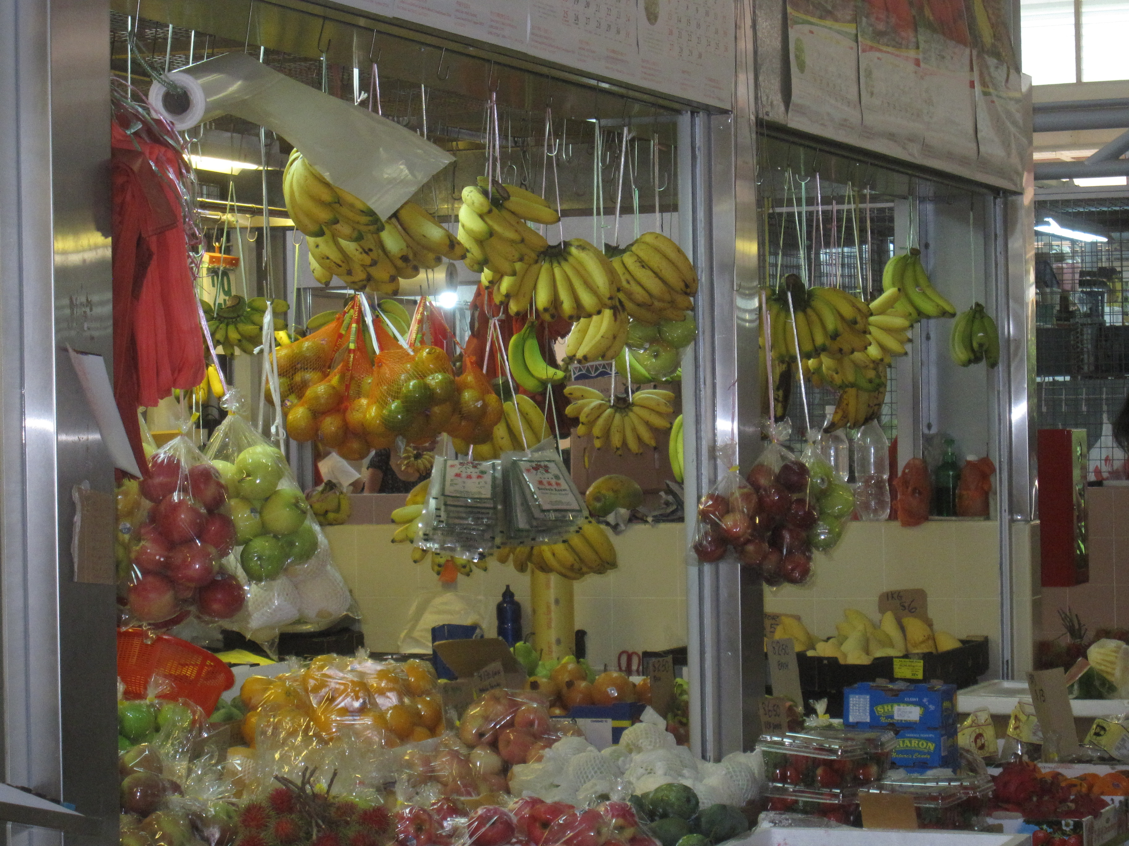 Singapore fruit stands