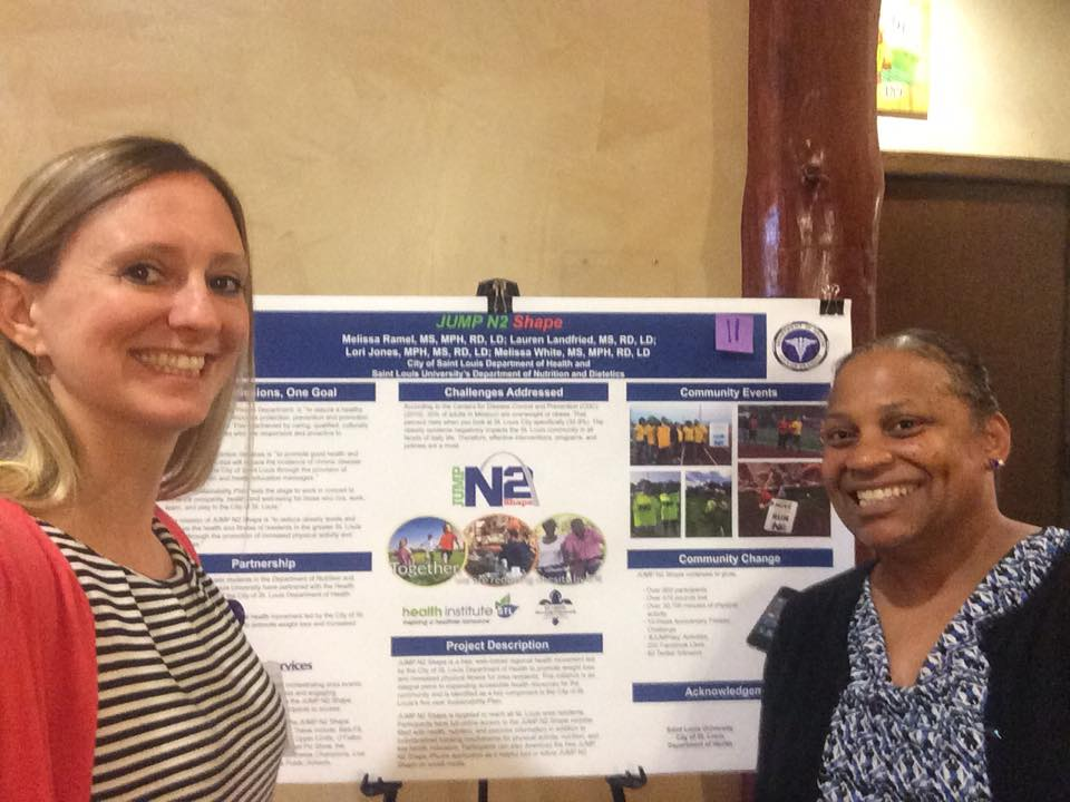 Lori Jones and Lauren Landfried at Poster Session during MOPHA conference