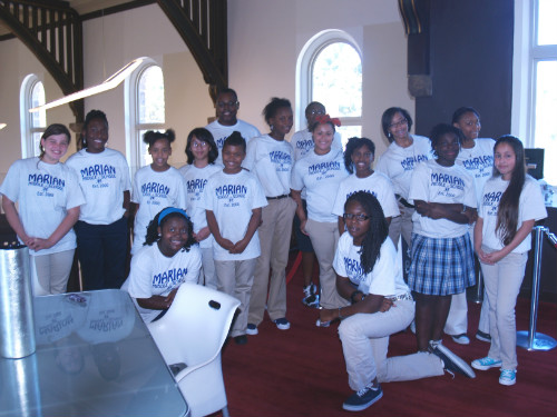 Students from Marian Middle School on hand for the Mayor's Spirit Award presentation on Aug. 25, 2011.