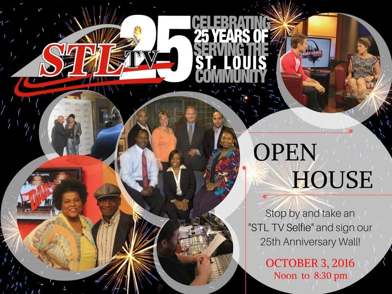 Flyer for STL TV Open House on Oct 3 2016
