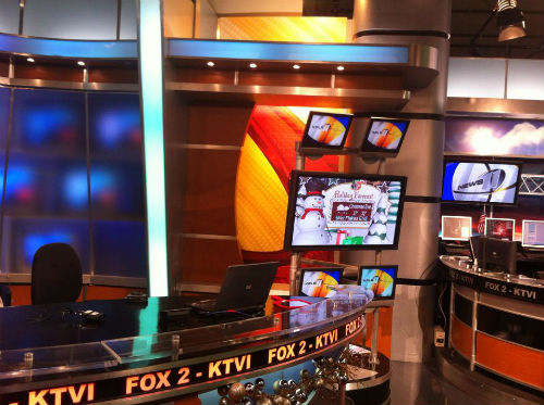 KTVI FOX 2's old news set is STL-TV's new news set.  Thanks, FOX 2!