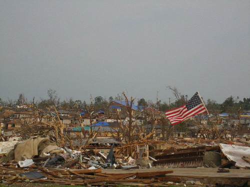 Photo of the destruction in Joplin from the tornado